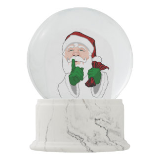 Santa Snow Globe Custom Christmas Snowglobes