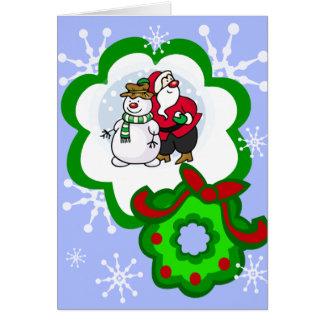Santa snowman card