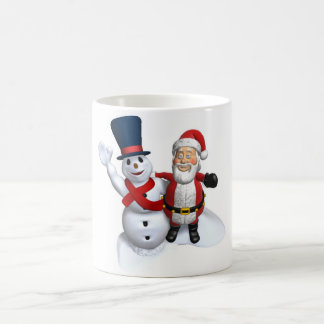 Santa,Snowman,Christmas Cup Coffee Mugs
