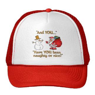 Santa & Snowman hat, choose color Cap