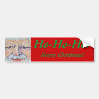 Santa Square Face Bumper Sticker