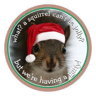 Santa Squirrel™ is Jolly Holiday Party Card