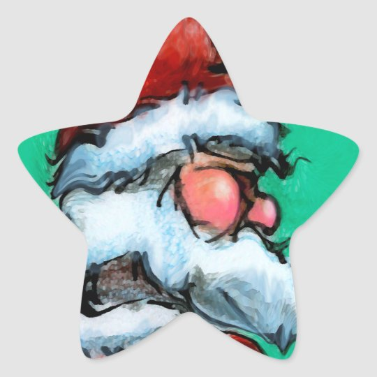 Santa Star Sticker