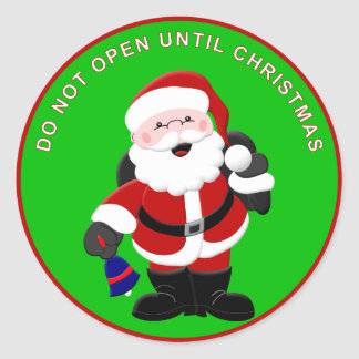 Santa Sticker 2 - Do Not Open Until Christmas