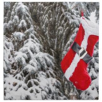 Santa Stocking Napkin