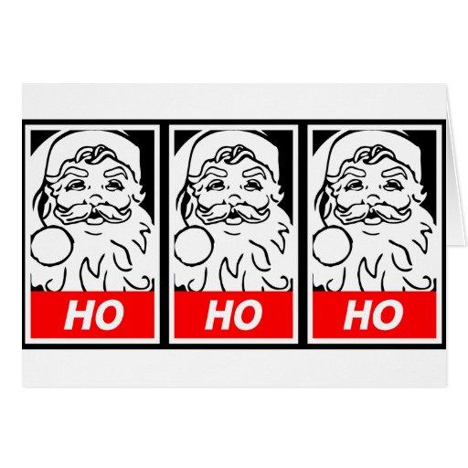 Santa Street Art: HO HO HO Card
