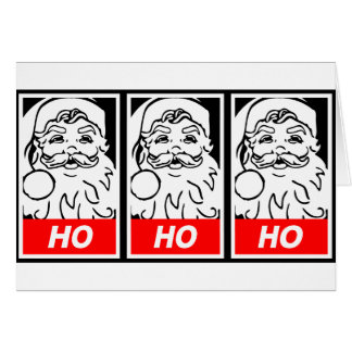 Santa Street Art: HO HO HO Greeting Card