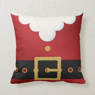 Santa Suit Belly Christmas Throw Cushions