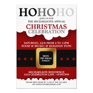 Santa Suit Christmas Party 13 Cm X 18 Cm Invitation Card