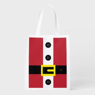 Santa Suit Reusable Grocery Bag