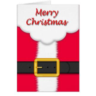 Santa Suit Santa Beard Card