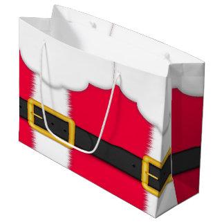Santa Suit Santa Beard Large Gift Bag