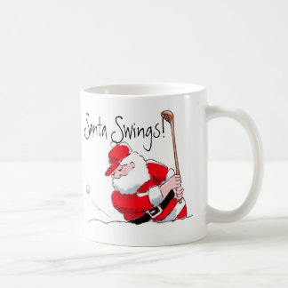Santa Swings mug
