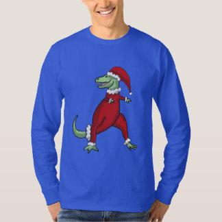 Santa T-Rex Men's Shirt