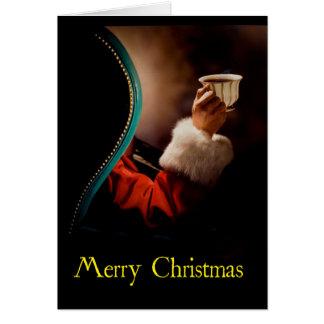 """Santa Takes a Coffee Break"" Christmas Card"