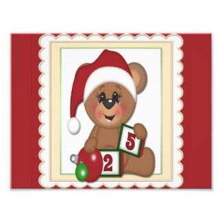 Santa Teddy Bear Photo Print