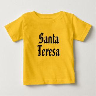 Santa teresa in traditional font baby T-Shirt