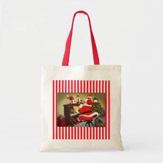 Santa The Musician Christmas Tote Bag