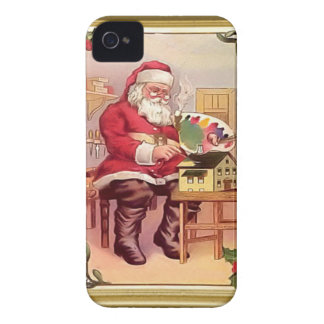 Santa the toy maker iPhone 4 Case-Mate cases