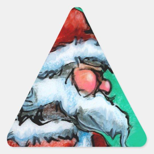 Santa Triangle Sticker