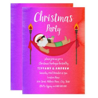 Santa Tropical Summer Christmas Party Invite