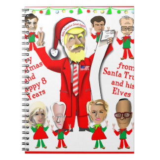 Santa Trump and his Elves Spiral Notebook