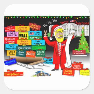 Santa Trump Square Sticker