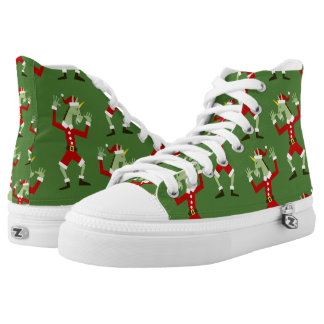 Santa Unicorn In the House High Tops