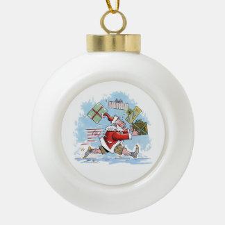 Santa Unprepared Christmas ball Ceramic Ball Christmas Ornament