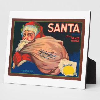 Santa Vintage Crate Label Plaques