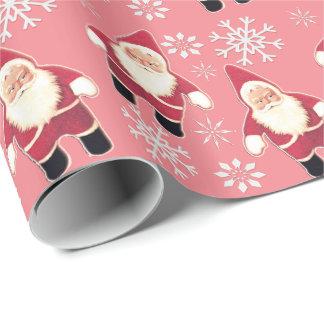 Santa Vintage Gnome Christmas Wrapping Paper 3