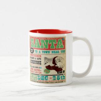 Santa Vintage Two Tone Coffee Mug