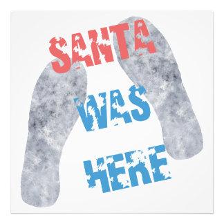 Santa Was Here Photographic Print