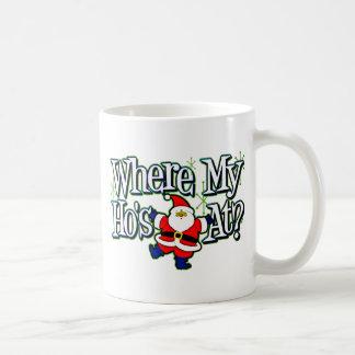 Santa Where my Ho's at.png Coffee Mug