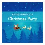Santa Winter Scene Christmas Invite
