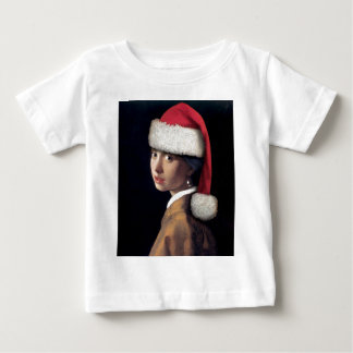 Santa with a Pearl Earring Baby T-Shirt
