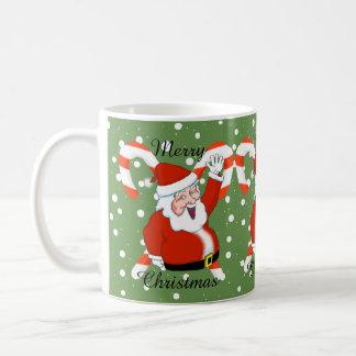 Santa with Candy Canes Christmas Mug
