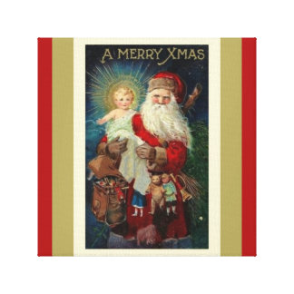 Santa with Christ Child Toys St. Nicholas Canvas Print