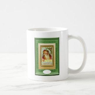 Santa with Christmas Greetings Coffee Mug