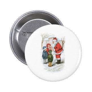 Santa with Christmas Wish List Button