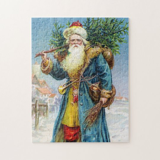 Santa with Fir Tree Jigsaw Puzzle