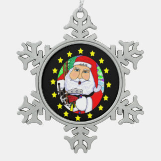 Santa with Martial Arts Gifts Ornament