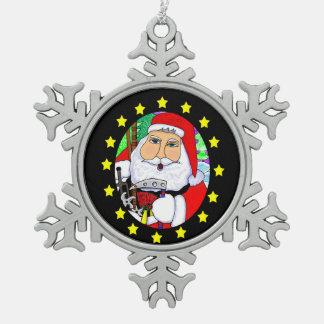 Santa with Martial Arts Gifts Ornament