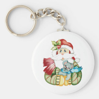 SANTA WITH MOUSE KEY CHAINS