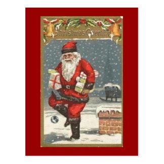 Santa With Presents Post Card