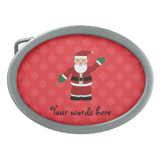 Santa with red snowflakes pattern belt buckles