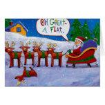 Santa with reindeer Card