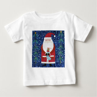 Santa with Stocking Baby T-Shirt