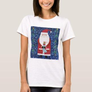 Santa with Stocking T-Shirt