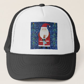 Santa with Stocking Trucker Hat